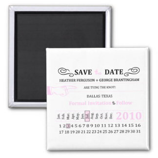 "retro hole punch ""save the Date"" magnet"