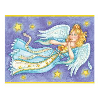 Retro Holiday Angel Postcard