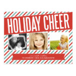 RETRO HOLIDAY CHEER | HOLIDAY PHOTO CARD POSTCARD