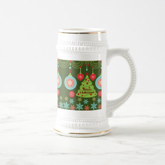 Retro Holiday Merry Christmas Tree Snowflakes Coffee Mugs