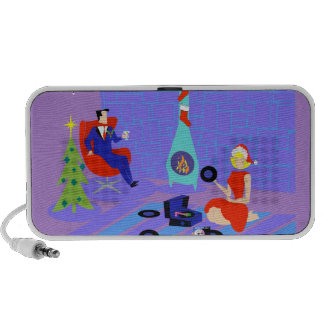 Retro Home for the Holidays Portable Speaker
