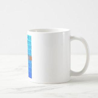 Retro Honu Surfboard Basic White Mug