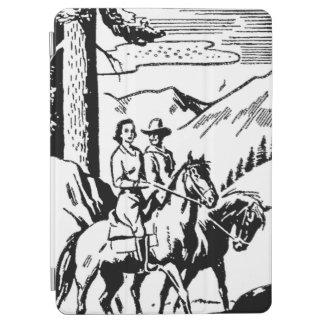 Retro Horseback Riding iPad Air Cover