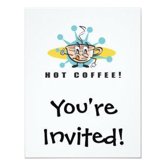 retro hot coffee design invitations