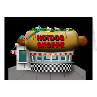 Retro Hot Dog Shoppe Card