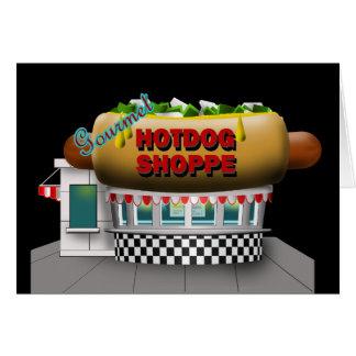 Retro Hot Dog Shoppe Greeting Card