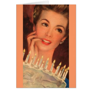 Retro Housewife Birthday Card