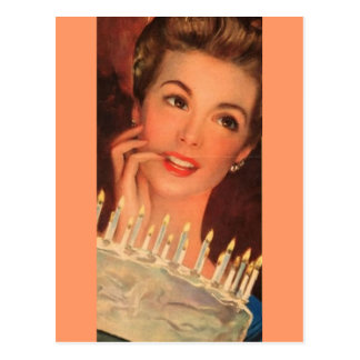 Retro Housewife Birthday Post Cards