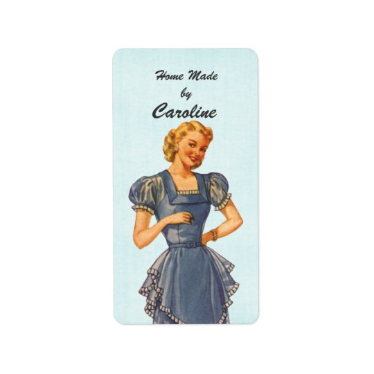 Retro Housewife Brings You Goodies Address Label