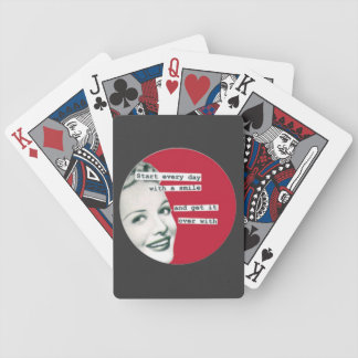 "Retro Housewife ""Start the Day with a Smile"" Cards Poker Cards"