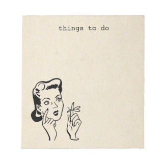 Retro Housewife Things to Do Memo Pad