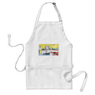 Retro Housewives in Kitchen Standard Apron