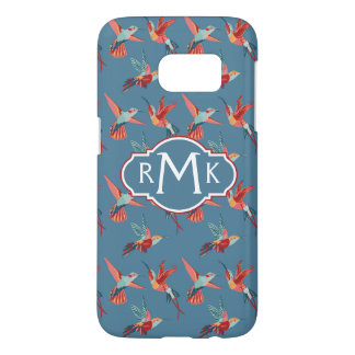 Retro Hummingbird Pattern | Monogram