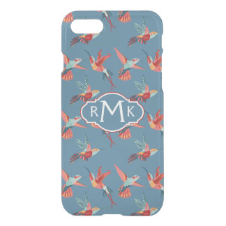 Retro Hummingbird Pattern | Monogram iPhone 8/7 Case