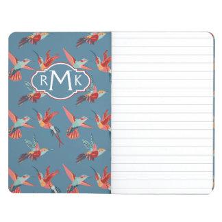 Retro Hummingbird Pattern | Monogram Journal
