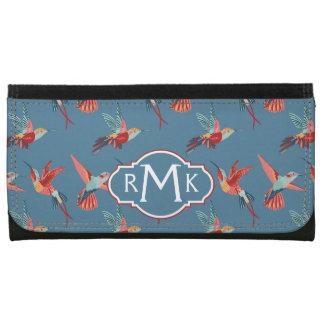 Retro Hummingbird Pattern | Monogram Wallets