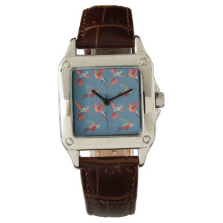 Retro Hummingbird Pattern Wrist Watch