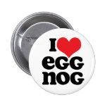 Retro I Love Egg Nog Button