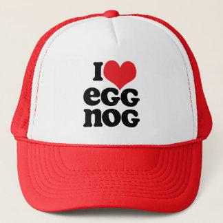 Retro I Love Egg Nog Trucker Hat
