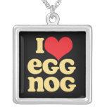 Retro I Love Eggnog Necklace