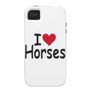 Retro I love Horses iPhone 4/4S Cover