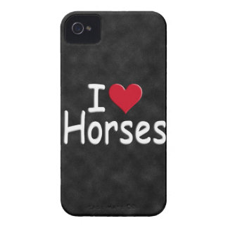 Retro I love Horses iPhone 4 Covers