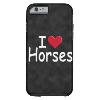 Retro I love Horses Tough iPhone 6 Case