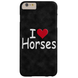 Retro I love Horses Barely There iPhone 6 Plus Case