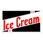 retro ice cream business card