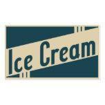 retro ice cream business card templates