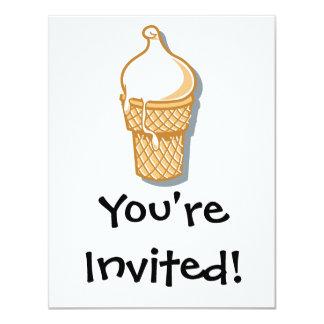 retro ice cream cone 11 cm x 14 cm invitation card
