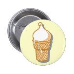 retro ice cream cone 6 cm round badge
