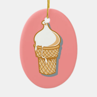 retro ice cream cone christmas ornament