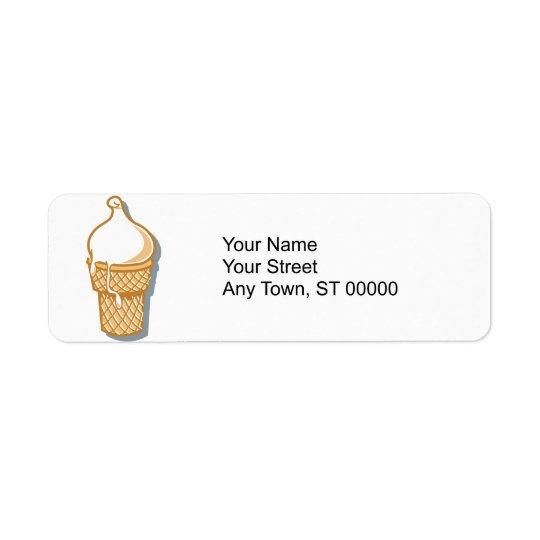 retro ice cream cone return address label