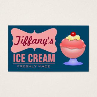 Retro Ice Cream Parlor | Pink Sundae | Ice Cream Business Card