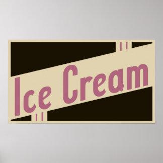 retro ice cream poster