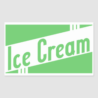 retro ice cream rectangular sticker