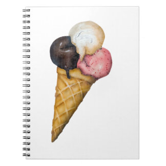 Retro Ice Cream Sign Spiral Notebook