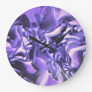 Retro Image 10 Purple & Lilac Round Wall Clock