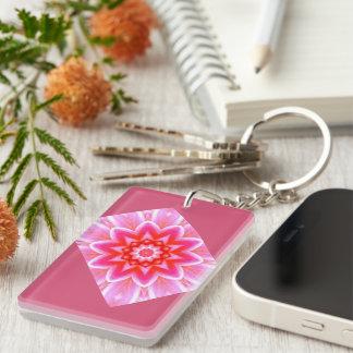 Retro Image 5 Pink & White Acrylic Keychain
