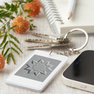Retro Image 6 Grey Silver Acrylic Keychain