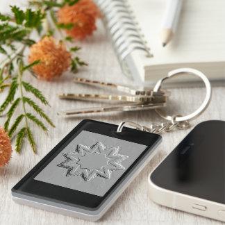 Retro Image 6 Grey Silver Acrylic Keyring Single-Sided Rectangular Acrylic Key Ring