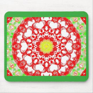 Retro Image 8 Red & Green Original Mousemat