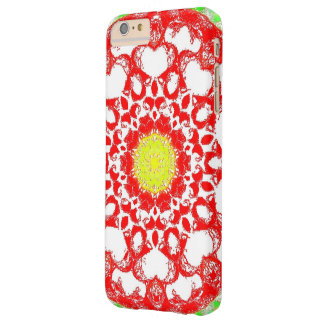 Retro Image 8 Red & White Barely There iPhone 6 Plus Case