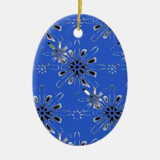 Retro in Blue Christmas Ornament