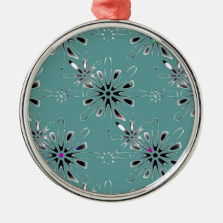 Retro in Teal Christmas Ornament