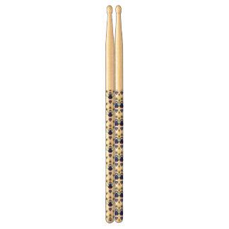 retro india exotic peacock drumsticks