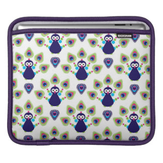 retro india exotic peacock iPad sleeve