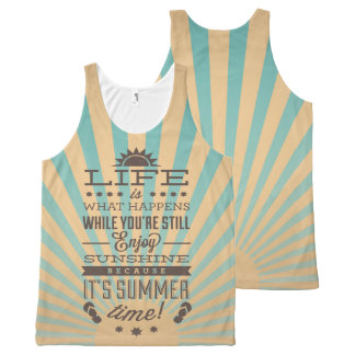 Retro inspirational summer quote tank tops