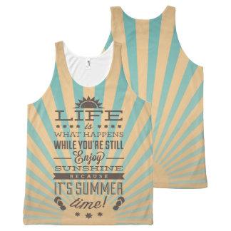 Retro inspirational summer quote tank tops